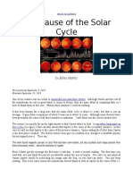 The Cause of the Solar Cycles by Miles Mathis