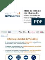 MCV Informe de Calidad de Vida de Medellín 2016