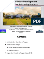 Yangon's Urban Development Master Plan& Priority Projects