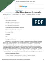 Caso Practico Unidad 3 Investigacion de Mercados - Ensayos - Luchoruiz