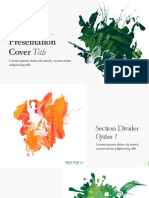 Presentation Cover Title