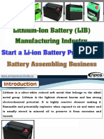 Lithium-Ion Battery (LIB) Manufacturing Industry