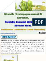 Citronella (Cymbopogon nardus) Oil Extraction