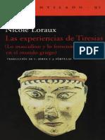 Las Experiencias de Tiresias, Lo Masculino y Lo Femenino en El Mundo Griego - Nicole Loraux