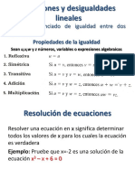 Ecuaciones y Desigualdades Lineales (2)