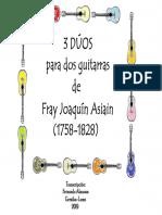 3 DÚOS PARA DOS GUITARRAS (FRAY JOAQUÍN ASIAIN, 1758-1828). Fernando Abaunza