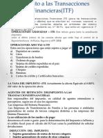 Impuesto a Las Transacciones Financieras(ITF)