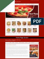 Pizza Ordering System Mini Java Project Screens