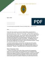 Legislature Letter
