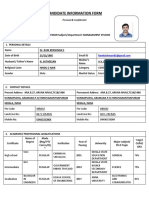 Candidate Information Form