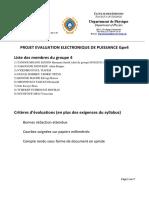 Projet4 Evaluation Electronique de Puissance