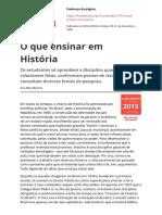 O que é ensinar história