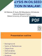 Oilseeds Gap Analysis_Steering Committee Meeting_2018.09.20
