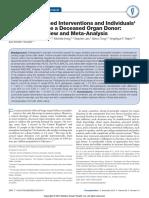 Metaanalysis Donation Organ