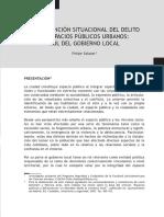 LA PREVENCIÓN SITUACIONAL DEL DELITO EN ESPACIOS PÚBLICOS URBANOS