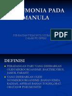 3.1 Pneumonia Pada Manula