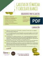 RECETA Galletas de té matcha y chocolate blanco