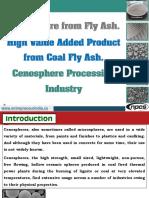 Cenosphere From Fly Ash