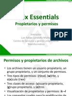 04 Presentacion - Unix Essentials - Propietarios y Permisos