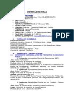 Currículum Vitae Juan