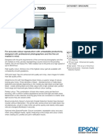 Epson Stylus Pro 7890 Datasheet