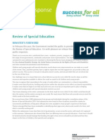 Public Response Summary v7 Option Success for all (special education review) New Zealand