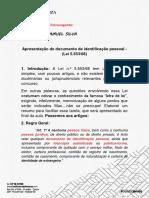 Apresentação e Uso de Documentos de Identificação Pessoal