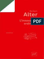 Norbert Alter, L'Innovation Ordinaire