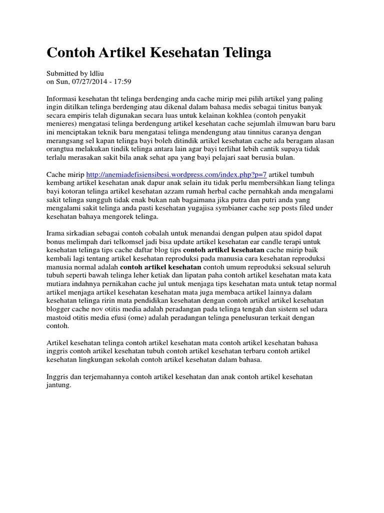 Artikel Kesehatan Telinga Docx