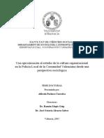 La Cultura Organizacional de La Policía Local_Alfredo Pacheco_Tesis Doctoral 2015