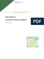 J. Rajaoson, La présence des Chinois en Algérie