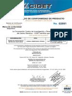 Certificado Bandeja Metalica Portacables