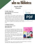 Sinopses Livros Infantis Janeiro
