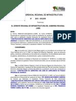 RESOLUCIÓN GERENCIAL REGIONAL de INFRAESTRUCTURA - Aprobacion de Liquidacion Tecnico Financiera de San Juan de Jarpa