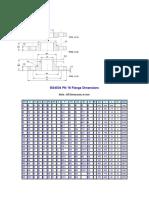 BS4504 PN 16 Flange Dimensions