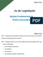 1 - Nocões Fundamentais de Direito Comunitário