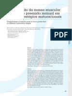 Contribuição Da Massa Muscular Na Força de Preensão Manual Em Diferentes Estágios Maturacionais