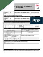 Registro de Incidentes Peligrosos e Incidentes