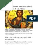 Estos Son 5 Mitos Populares Sobre El Uso Católico de Las Biblias