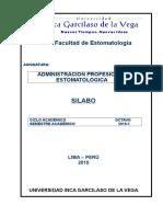 Silabo de Administracion Prof. Estomatologica