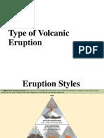Types of Volcanic Eruption