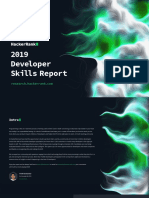 HackerRank 2019 2018 Developer Skills Report