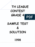 Math League Grade 4 1998