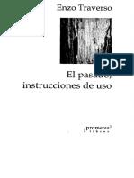 Traverso Enzo. El Pasado Instrucciones de Uso. Prometeo. 2011