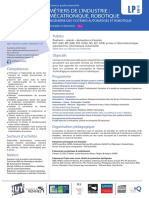 Plaquette Licence Pro Mecatronique Ingenierie Systemes Automatises Robotique Isar 2018