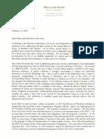 Most Reverend Nicholas DiMarzio Letter