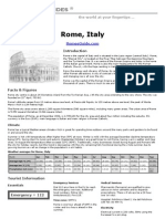 Rome Travel-guide Print