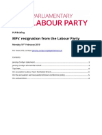 PLP Briefing MPs Resignation From Labour Party