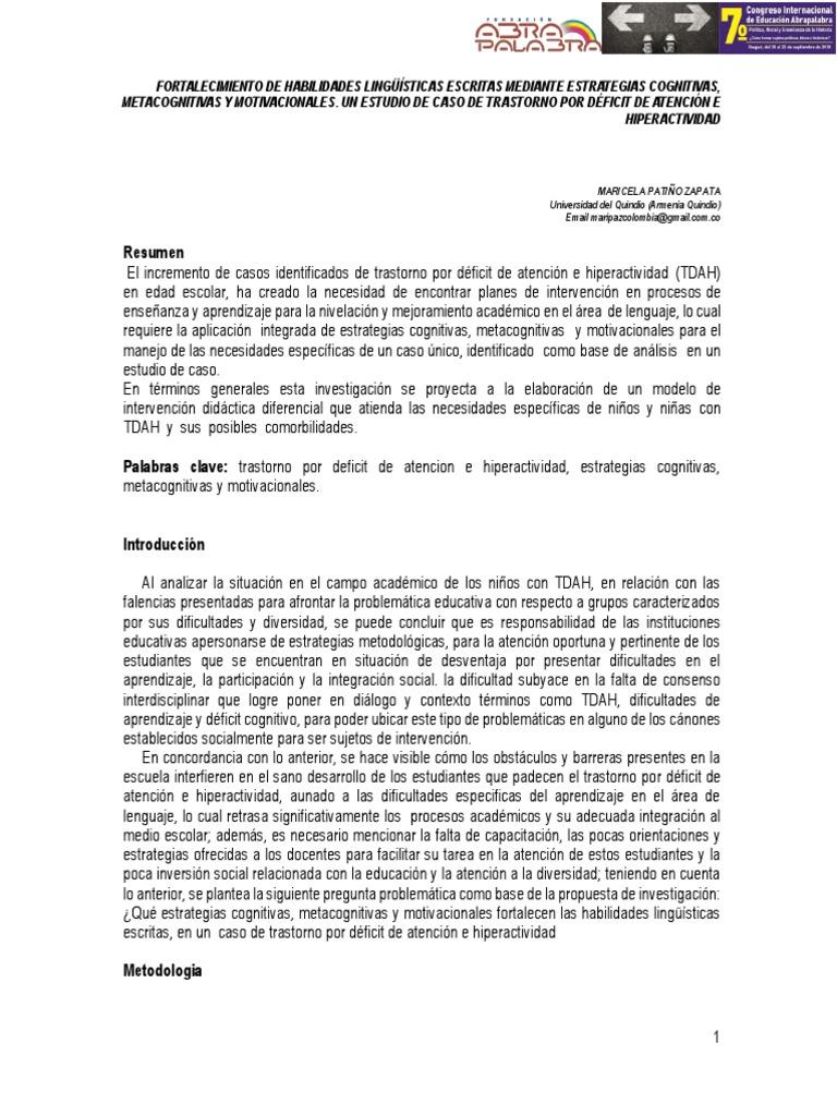 Fortalecimiento De Habilidades Lingüísticas Escritas