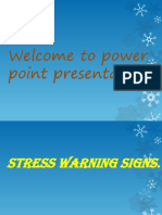 Power Point Presentation for Warning Signs of Stress